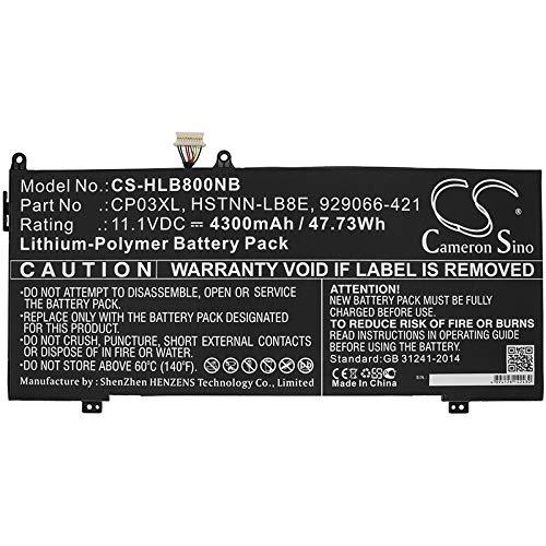 CS - Batería de polímero de Litio (4300 mAh, 47,73 WH, Compatible con HP Spectre x360 13 Convertible Spectre x360, sustituye a HP 929066-421 929072-855 CP03060XL CP03XL HSTNN-LB8E)