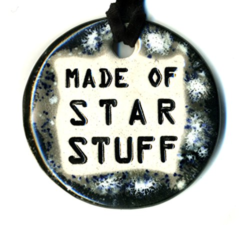 Surly-Ramics Made of Star Stuff Ceramic Pendant Necklace in Black and Grey