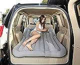 Zjcqc Beflockung Auto Aufblasbares Bett, Geländewagen Auto Hinteren Reihe Matratze Reise Isomatte Luftbett, Mit Luftpumpe (Farbe : Gray)