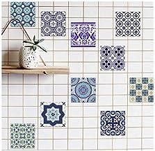 PVC Waterproof Self adhesive Wallpaper Kitchen Mediterranean Tile Sticker Wall Decal-vt0