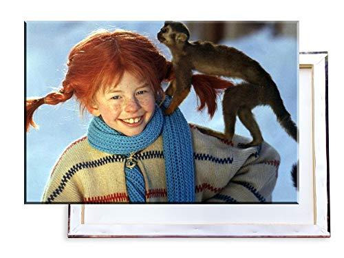 Unified Distribution Pippi Langstrumpf - 100x70 cm Kunstdruck auf Leinwand • erstklassige Druckqualität • Dekoration • Wandbild