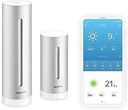 Netatmo NWS01-Ec Smart WLAN, Draadloze Binnen- en Buitensensor voor Weersvoorspelling, Meerkleurig