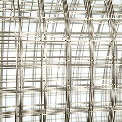 BBGS Cercas de Malla de Acero Inoxidable, Alambre de Pollo de Alambre Plantas Animales Valla Ideal para Jardines Pajareras Gallineros Coops Hutches (Color : 12mm Mesh, Size : Style 2)
