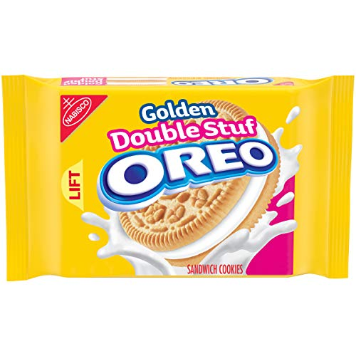 OREO Golden Double Stuf Sandwich Cookies, 15.25 oz