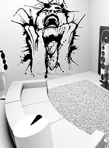 Blrpbc Adhesivos Pared Pegatinas de Pared Mujer Salpicadura Tinta Pintura Pintura actuación Arte Pintura decoración del hogar decoración de la Vida calcomanías de Vinilo 96x86cm
