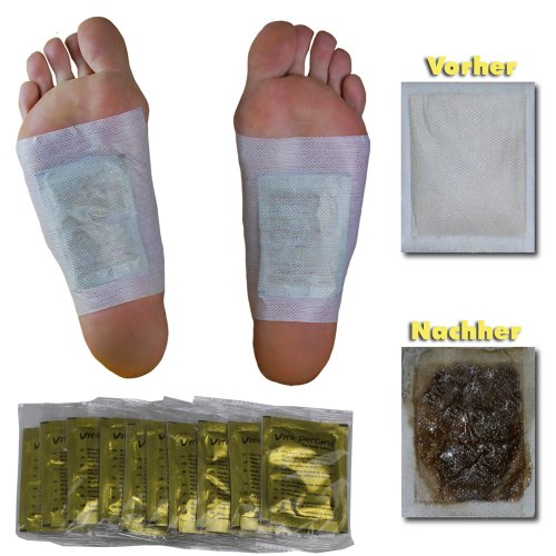 100 x Vita Patchy® Vitalpflaster Gold mit hochwertigem Turmalin Fusspflaster Bambuspflaster Foot Pads