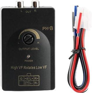Speaker Level Converter -Auto RCA-uitgang Stereo Speaker Hoog naar Laag Niveau Converter met Vertragingsfunctie