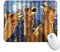 Yaoni ゲーミング マウスパッド,宇宙星雲宇宙レトロギャラクシーラクダ柄のテーマプリント,マウスパッド レーザー&光学マウス対応 マウスパッド おしゃれ ゲームおよびオフィス用 滑り止め 防水 PC ラップトップ