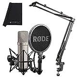 Rode NT1-A - Juego de micrófono y brazo de micrófono K&M 23840 y paño keepdrum