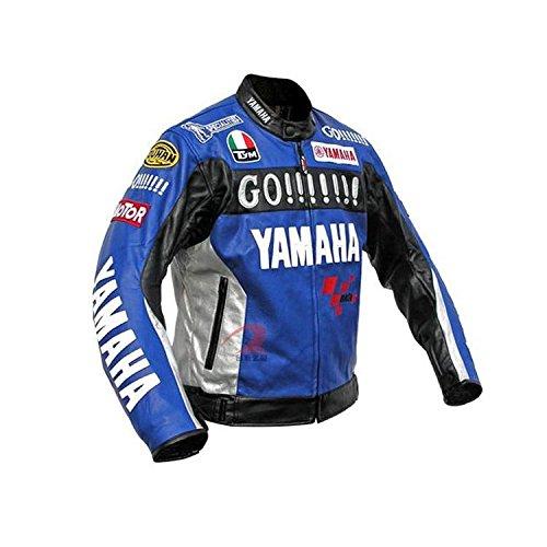 YAMAHA バイクジャケット メッシュ メンズ 3シーズン 秋冬 防寒 バイクウェア ライダース ライディングジャケット ブルー 2XL