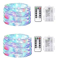 2-Pack VWMYQ Waterproof 32.8 ft 100-LED String Lights (Colorful)