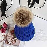 nohbi Gorro de Punto Moda Extra Suave,Sombrero de Punto cálido y cómodo,Lindo Sombrero de Ciclismo con protección para los oídos Azul,Gorro De Gorra De Esquí CáLido Invierno Nieve Hat