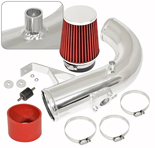 AJP Distributors Jdm Racing Polish Aluminum Performance Cold Air Intake Induction System Red Filter For Tc 2011 2012 2013 2014 2015 2016 11 12 13 14 15 16