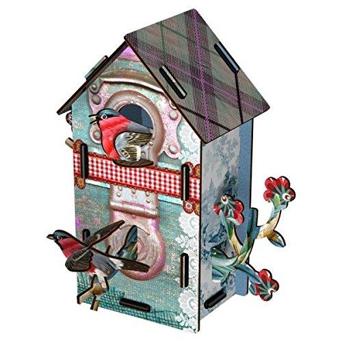Casetta decorativa uccellini per interno In Mdf Mod. Playmates design Miho