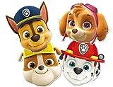 PAW PATROL 0911, Pack 6 caretas Patrulla Canina,, Fiestas y cumpleaños, Producto de cartón,