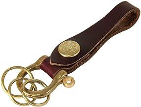 アジリティ アファ AGILITY affa シャックルキーホルダー(全17色) キーホルダー 牛革 真鍮 キーリング 3連 ベルトループ/