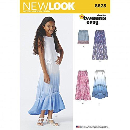 New Look Schnittmuster 6523 Sommerröcke für Mädchen