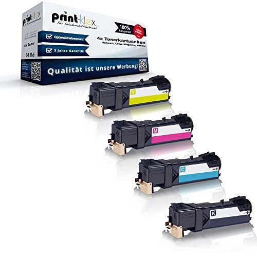 4x kompatible Tonerkartuschen für Xerox Phaser 6500DN Phaser 6500N Phaser 6500Series Black Cyan Magenta Yellow Sparset - Color Pro Serie