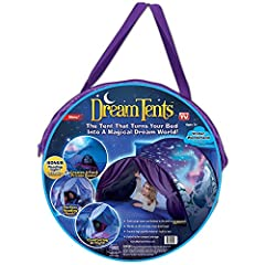 DREAMTENTS are fun pop up tents that give your child their own private world at night. EASY TO SET UP and easy to store. They instantly pop open and they fasten to the bed in just seconds. WORK ON all twin beds, even bunk beds! To store them, you jus...