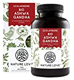 NATURE LOVE® Bio Ashwagandha - Einführungspreis - Hochdosiert mit 1950mg je Tagesdosis - 240 Kapseln - Premium: Original indische Schlafbeere - Laborgeprüft, in Deutschland produziert
