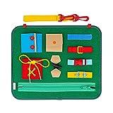 Staright Quadro de atividades infantis para habilidades básicas Aprendizado de proteção ambiental Feltro Brinquedos infantis Educação infantil Material didático para vestir Vestir saco de quadro de
