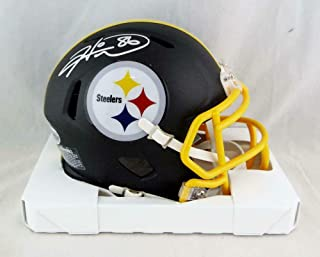 Hines Ward Signed Mini Helmet - Flat Black W Auth *Silver - JSA Certified - Autographed NFL Mini Helmets