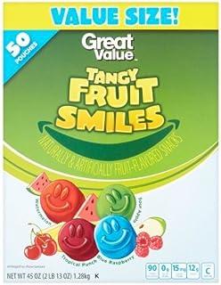 Fruit Smiles Tangy Fruit Snacks - 50 Pouches