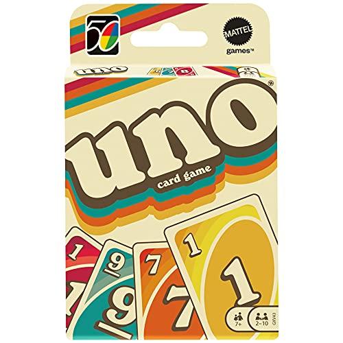 Mattel Games GXV43 - UNO Iconic Series 1970 Kartenspiel für Spieler ab 7 Jahren