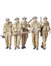 Tamiya 300035223 – 1:35 WWII figuruppsättning brittiskt infanteripatrul, 5 soldater