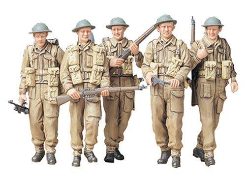 TAMIYA 300035223 - 1:35 WWII Figuren-Set Britische Infanterie Patrol, 5 Soldaten