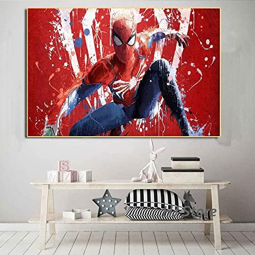 Puzzle 1000 pezzi Spider Hero Pattern Nordic Art Painting Picture puzzle 1000 pezzi paesaggi Gioco di abilità per tutta la famiglia, colorato gioco di posizionamento50x75cm(20x30inch)