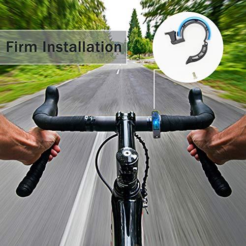 Sportout Aluminiumlegierung Innovative Fahrradklingel Fahrrad Ring mit Lauten Klaren Klaren Kla, für Lenker von 22,2 bis 31,8 mm(Black) - 5