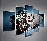 islandburner Bild Bilder auf Leinwand Aces Poker Casino Spielhalle Kartenspiel MF XXL Poster...