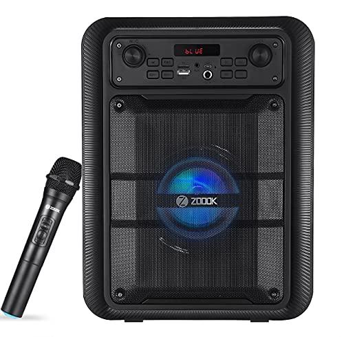 Zoook Rocker Thunder Pro 30 watts Karaoke Bluetooth Party Speaker with Wireless Mic (Black)