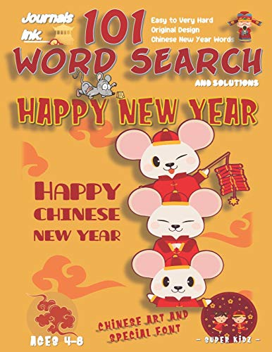 101 Word Search for Kids: SUPER KIDZ Book. Children - Ages 4-8 (US Edition). Chinese New Year, 3 Stacked Rats. Custom art and letters interior w ... time! (Superkidz - New Year Search for Kids)