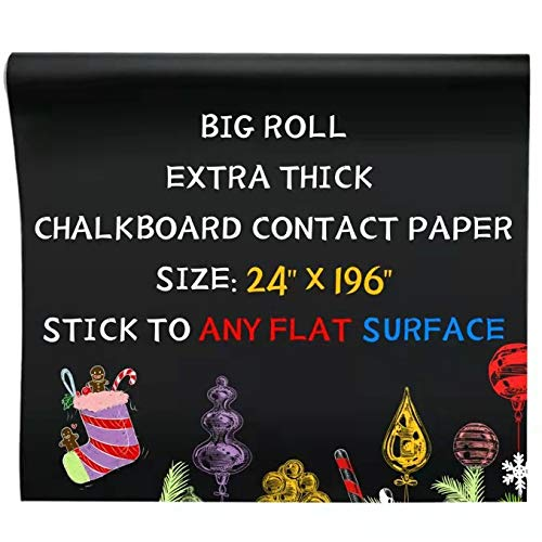 Oxdigi Black Chalkboard Contact Paper/24 x 196 inches/Large Chalk...