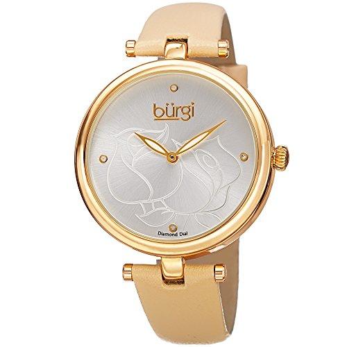Burgi'-Orologio da donna al quarzo con Display analogico e cinturino in...