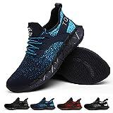AONETIGER Schuhe Herren Damen Sportschuhe Laufschuhe Running Sneaker Turnschuhe(Blau,Größe 43)