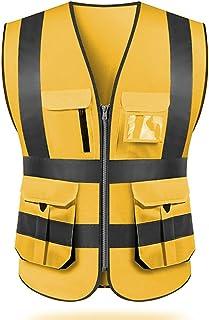 Safety Vest work High visibility reflectivemulti pockets workwear waistcoat