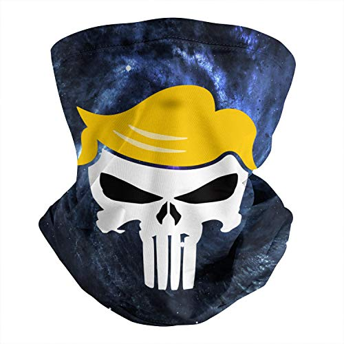 Scarf for Dust Wind Fashion Outdoors Trump Punisher Hair Shaped Neck Gaiter for Men or Women