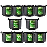 VIVOSUN 10-Pack 7 Gallon Grow Bag, Reinforced Planter Fabric Pot for Gardening