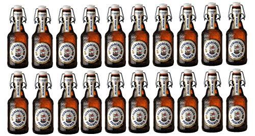 20 Flaschen Flensburger Pils Bügelflaschen inc. 3.00€ MEHRWEG Pfand 4,8% Vol. Ploppverschluß ohne Rahmen