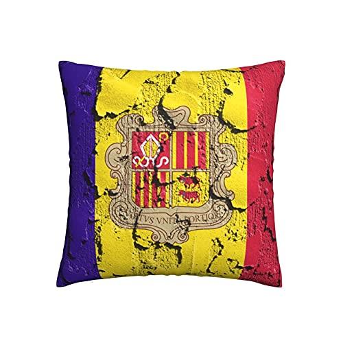 Kissenbezug 45X45, Flagge Von Andorra Kissenbezüge Stilvolle Kissenhülle Prämie Dekokissen Für Zuhause Büro Geschenk