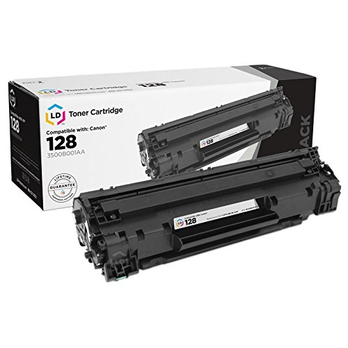 LD © Remanufactured Canon 3500B001AA (128) Set of 4 Black Laser Toner Cartridges Photo #3