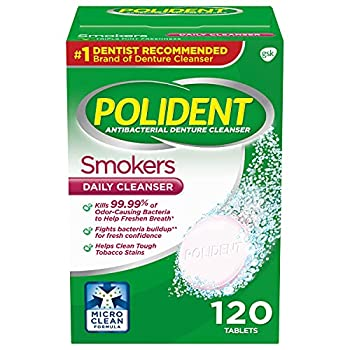 Polident Smokers Denture Cleanser Tablets 120 Count