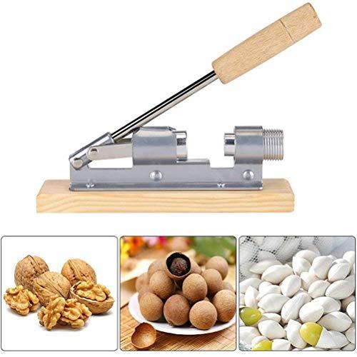 Poapp Nussknacker, Edelstahl Nußknacker Walnüsse Zinkdruckguss mit Hebel-Funktion Profesioneller Nutcracker Geeignet Nüsse oder Schalentiere 21 x 5 x 20 cm