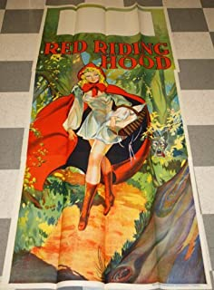 1930s - 3 Sheet Red Riding Hood Pin up Stone Litho Theater Poster Art Deco Large