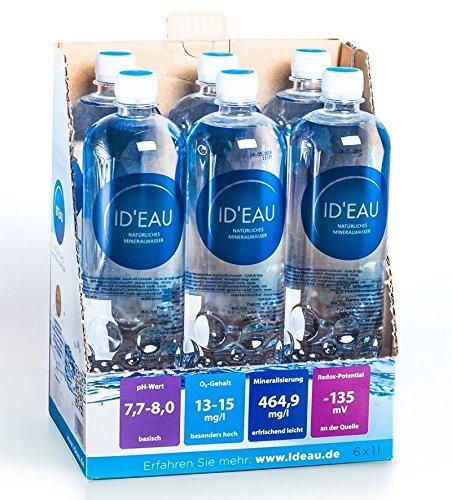 Mineralwasser ID'EAU regenerierendes stilles Wasser 1L 6er Pack (6 x 1L)