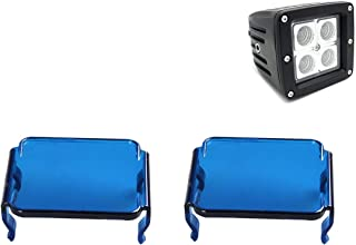 lightronic 2PCS Blue LED Lens Cover for Work Driving Light Off Road 3x3 18W 16W Cube Pods(Blue)