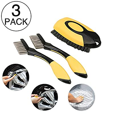 ETERNA 3pc Car Wheel Clean Brush Set, Automotiv...